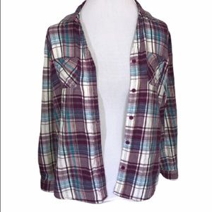 Laura Scott Plaid Button up Shirt